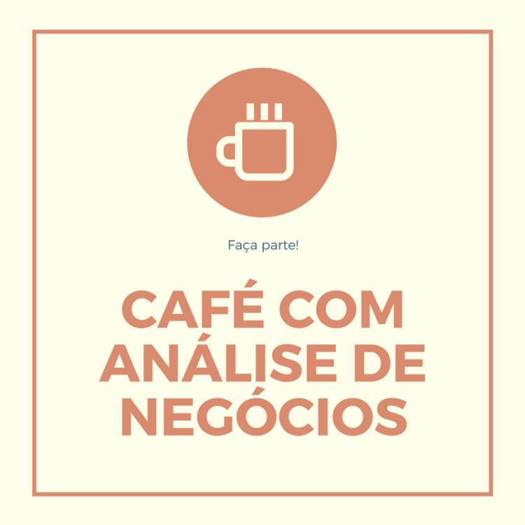café com análise de negócios